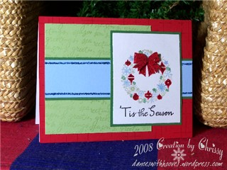 SC204 'Tis the Season Wreath card