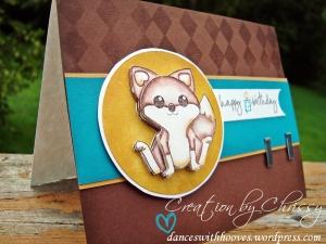 SK071809 Birthday Foxy