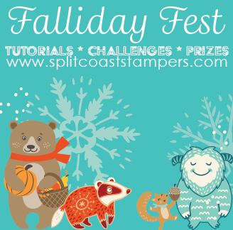 Falliday Fest logo for Splitcoast Stampers.com